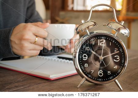 Little Bit Coffee Break Of Work stock photo