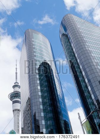 Iconic Sky Tv Tower Modern Skyscrapers Auckland Nz