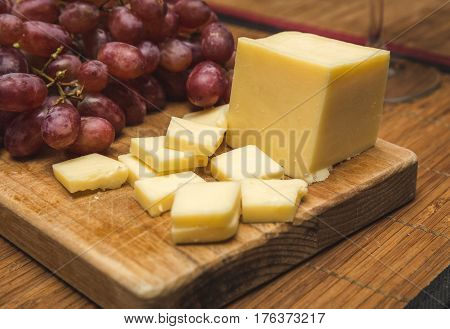 White Cheese And Red Grapes