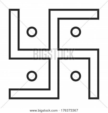 Jainism Symbol Vector Icon