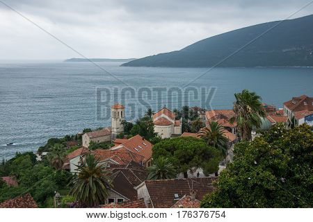 Perast is an old town on the Bay of Kotor in Montenegro