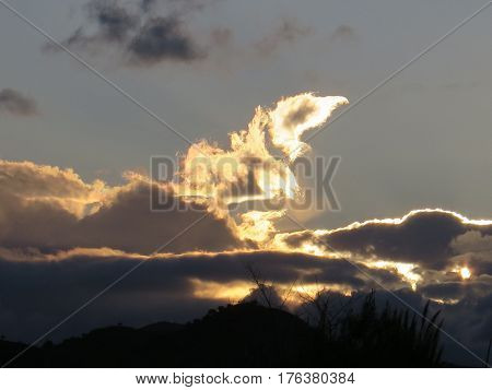 Storm Clouds At Dawn