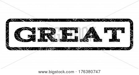 Great watermark stamp. Text tag inside rounded rectangle with grunge design style. Rubber seal stamp with unclean texture. Vector black ink imprint on a white background.