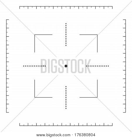 Crosshair, gun sight icon, target sign. Vector illustration isolated on white background