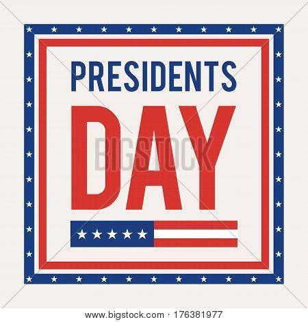 Presidents Day card. Vector illustration for web banner design or poster
