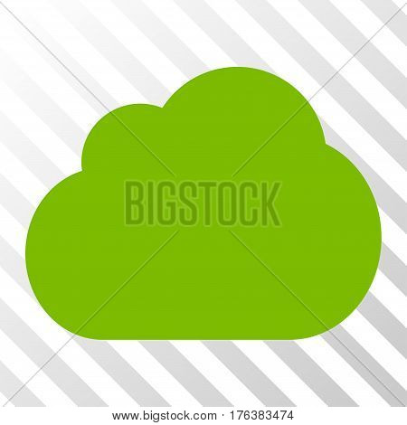 Cloud vector pictogram. Illustration style is a flat iconic eco green symbol on a transparent background.