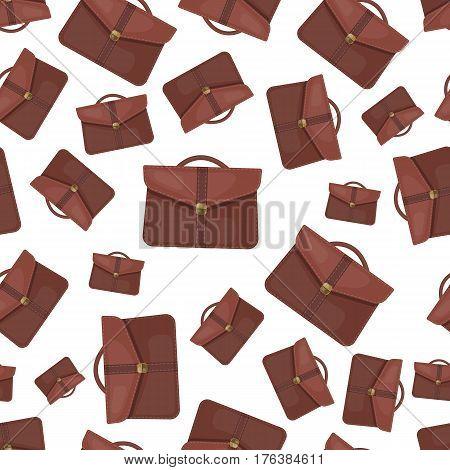 Briefcase seamless pattern on whitebackground eps 10
