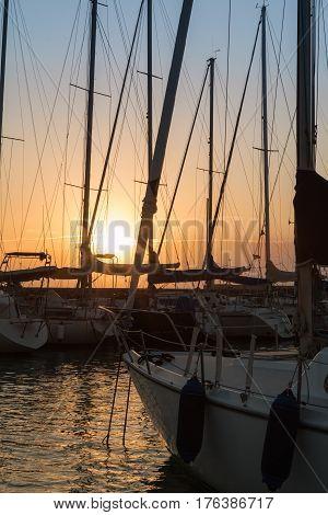 Sailing Boat's Masts: Dock Seaside