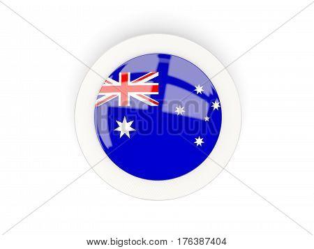 Round Flag Of Australia With Carbon Frame