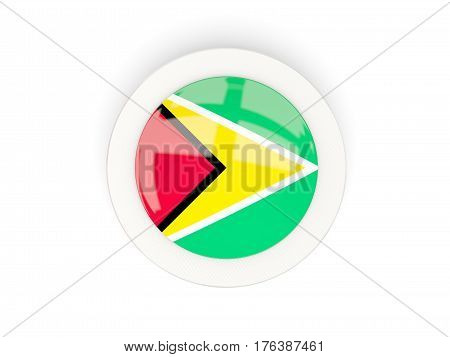 Round Flag Of Guyana With Carbon Frame
