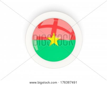Round Flag Of Burkina Faso With Carbon Frame