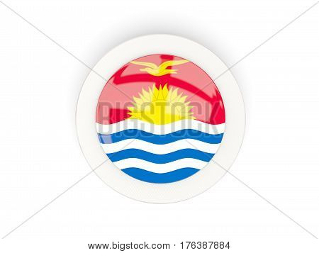 Round Flag Of Kiribati With Carbon Frame