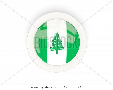 Round Flag Of Norfolk Island With Carbon Frame
