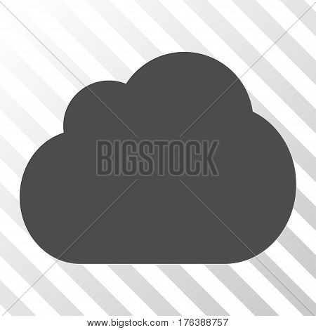 Cloud vector pictogram. Illustration style is a flat iconic gray symbol on a transparent background.