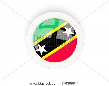 Round Flag Of Saint Kitts And Nevis With Carbon Frame