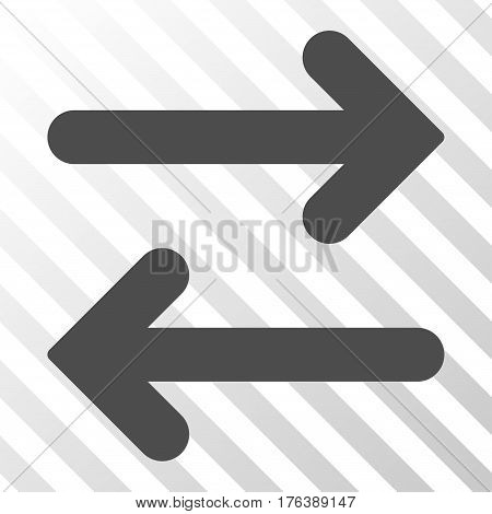 Flip Horizontal vector pictograph. Illustration style is a flat iconic gray symbol on a transparent background.