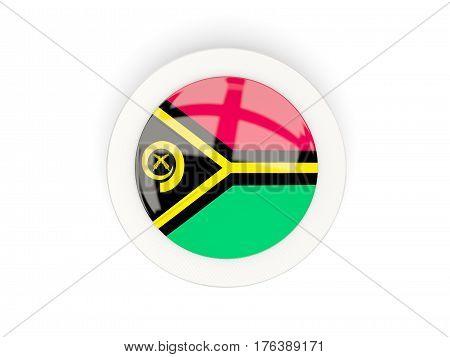 Round Flag Of Vanuatu With Carbon Frame