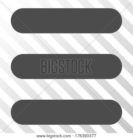 Stack vector pictogram. Illustration style is a flat iconic gray symbol on a transparent background.
