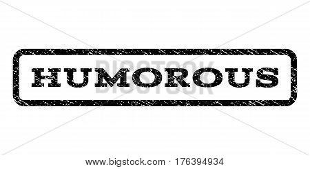 Humorous watermark stamp. Text caption inside rounded rectangle with grunge design style. Rubber seal stamp with dirty texture. Vector black ink imprint on a white background.