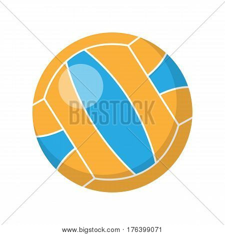 Volleyball ball vector. Flat style design. Sport equipment and inventory. Illustration for sport infographic, icons or web design. Summer entertainments. Beach games. Isolated on white background