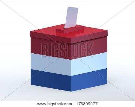 Dutch election ballot box , 3d illustration