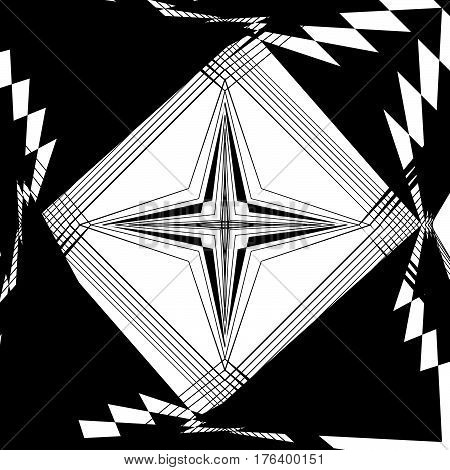 Random Monochrome Glitchy, Rough Texture, Pattern. Geometric Chaotic Illustration