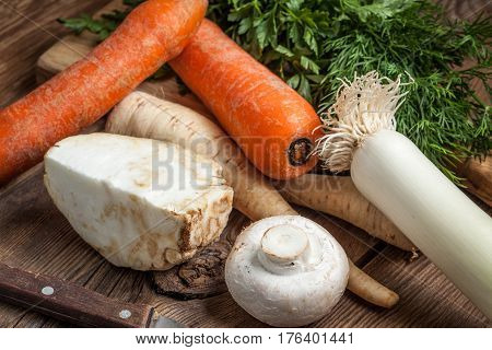 Vegetables To Make Broth.