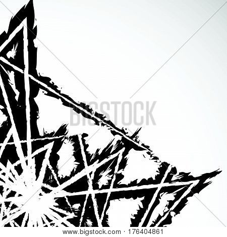 Grungy Textured Abstract Illustration (graphic Isn't Cut At Edges)