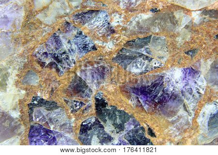 Amethyst rough stone conglomerate image width approx. 8 cm