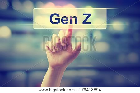 Gen Z Concept With Hand