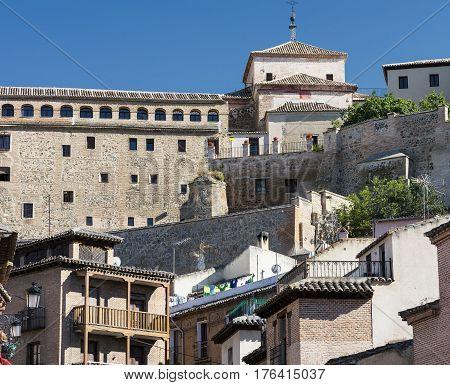Toledo (Castilla-La Mancha Spain): historic city buildings in various styles