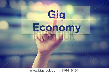 Gig Economy Concept With Hand