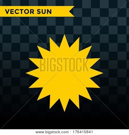 Sun burst or star logo icon. Sunshine star and sunlight. Nature sun in summer. Star vector icons . Star sun silhouette isolated