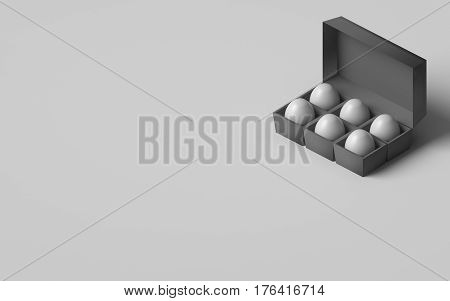3D RENDERING OF EGGS IN AN EGG BOX