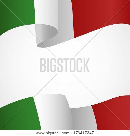 Decoration of Italian insignia on white background