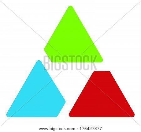 Triangle Logo / Symbol - Aperture Like Triangle Shape