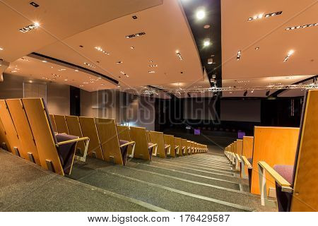 University Aula With Rows Of Chairs