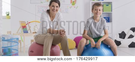 Boy During Therapy Session
