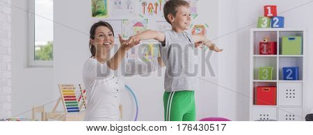 Boy Doing Physical Exercises
