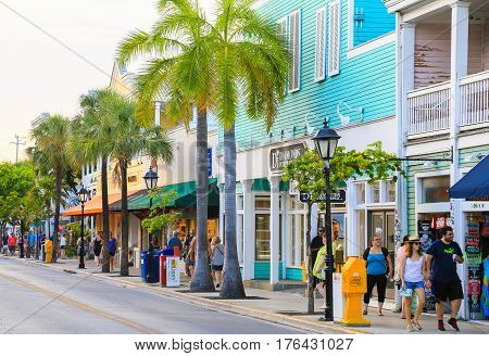 Colorful Duval Street