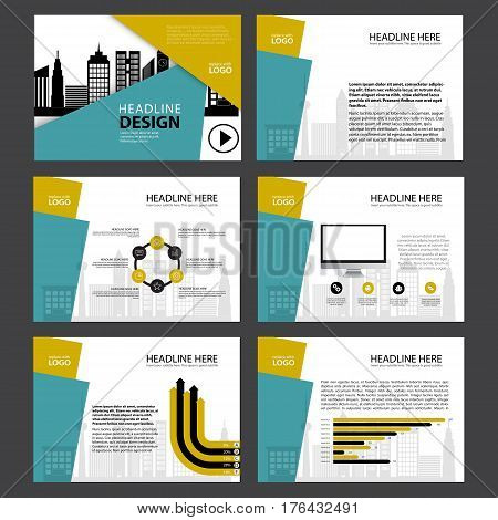 Business Template design set Presentation and brochure Annual report, flyer page with infographic element