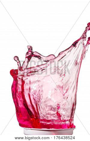 colorful splash of water on a white background