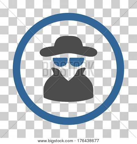 Spy icon. Vector illustration style is flat iconic bicolor symbol cobalt and gray colors transparent background. Designed for web and software interfaces.