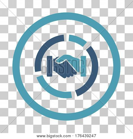 Acquisition Diagram icon. Vector illustration style is flat iconic bicolor symbol cyan and blue colors transparent background. Designed for web and software interfaces.