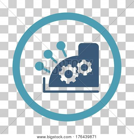 Cash Register icon. Vector illustration style is flat iconic bicolor symbol cyan and blue colors transparent background. Designed for web and software interfaces.
