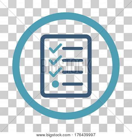 Checklist icon. Vector illustration style is flat iconic bicolor symbol cyan and blue colors transparent background. Designed for web and software interfaces.