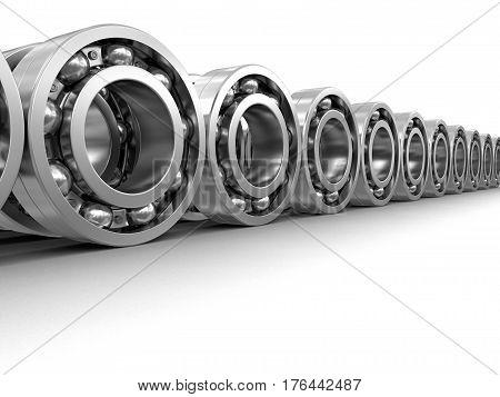 3D Illustration. Bearings. Image with clipping path