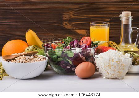 A Set Of Products For Diet And Healthy Nutrition
