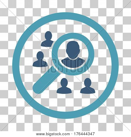 Search People icon. Vector illustration style is flat iconic bicolor symbol cyan and blue colors transparent background. Designed for web and software interfaces.