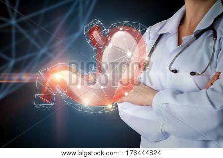 Gastroenterologist And Stomach .